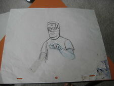 KING OF THE HILL ANIMATION PRODUCTION CEL DRAWING hank hill