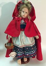 Hildegard Gunzel HEIDI RED RIDING HOOD porcelain doll for Mdm Alexander - RARE!!