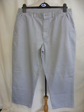 "Mens Trousers Maine grey semi-elasticated waist 36"" inside leg 27"" straight 7601"