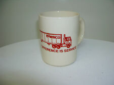 "Vintage Coffee Mug Cup Resco Trucking Cream Color Cab Over Truck 3.5"" tall"