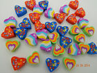 36 Mini Heart Shaped Erasers! Rubbers! Party Bag! Treat! Eraser! Novelty!