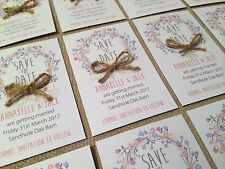 5 Personalised Magnetic Wedding Save the Date Cards with envelope