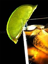 RUM AND COKE LIME BAR ALCOHOL ICE PHOTO ART PRINT POSTER PICTURE BMP2247A