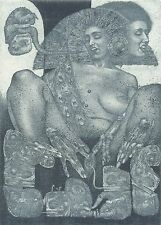 Ex libris KAMA SUTRA by K. Antioukhin (Ukr). Erotic. Original etching. Signed