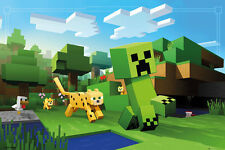 FP4300 MINECRAFT Ocelot Chase Maxi Poster 61 X 91.5 cm