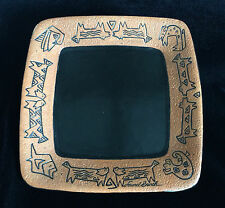 Laurel Burch Square Plate Southwestern Style Animal Designs