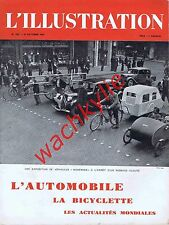 L'illustration n°5093 du 19/10/1940 spécial automobile gazogène bicyclette Zay