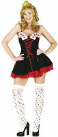 CASINO QUEEN OF HEARTS LADIES FANCY DRESS OUTFIT COSTUME