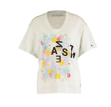 ADIDAS BY STELLA McCARTNEY Grey Marl Boxy Graphic T-Shirt BNWT