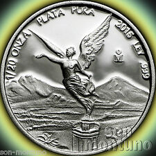 5 COINS - 2015 Mexico 1/20 TWENTIETH OZ SILVER LIBERTAD PROOF Coin MINT CAPSULES