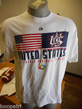 Mens Majestic World Baseball Classic '13 USA Shirt NWT XL