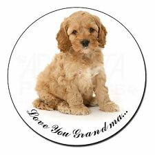Cockerpoodle Dog 'Love You Grandma' Fridge Magnet Stocking Filler C, AD-CP6lygFM
