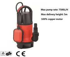 Submersible Dirty Water Pump 400w Copper Wire Motor With Floator 10m Cable