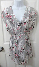 Mink Pink Urban Outfitters Tunic Dress Floral Unique Design Size Small