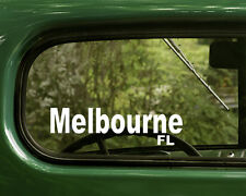 Melbourne Florida Decal Sticker (2) for Car, Truck, Laptops