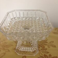 vintage glass pedastal cake stand or cookies