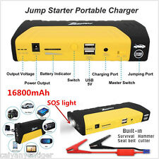 12V Power Bank 16800mA Car Jump Starter Pack Booster Charger Battery+ SOS Light
