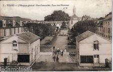 Carte postale, TOURS, L'hospice général, cour des hommes, écrite en 1929.