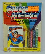 Vintage SUPERMAN - Super Hero Color-A-Deck CARD GAME 1977 Russell's MOC Rare