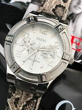 Guess Women's Natural Embossed Leather Chronograph Multi-function Watch U0470L2