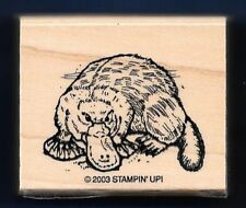 PLATYPUS OUTBACK Wildlife Animal Nature Landscape Stampin Up! 2003 RUBBER STAMP