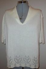 LADIES PIPPA DEE CREAM JUMPER SIZE L - SEE MEASUREMENTS