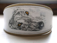 "Leather Dog Collar Greyhound Whippet Lurcher Hand Painted SZ 14"" - 17 1/2"""