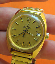 RARE SERVICED VINTAGE 218 ACCUTRON GOLD PLATE G20 TUNING FORK MENS WATCH N2