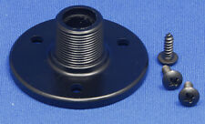 "BLACK Threaded Microphone Table/Surface Mount Flange - 5/8""-27 Male Thread"