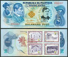 2 Pesos JOSE RIZAL DEATH ANNIVERSARY w/ ASEANPEX Stamp Commemorative Banknote C