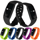 ID107 Heart Rate Monitor Wristband Smart Watch Bracelet Watch Fitness Track Lot