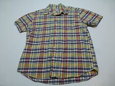 Old Navy Mens Size L Plaid Button Front Shirt Great Condition