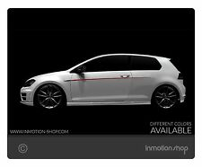 Beltline F. vw golf 7 GTI VII R GTD rayas Stripes guardabarros tuning 3 5 puertas