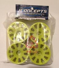 Team Associated RC10 T4 And GT Rear Wheels By JConcepts Rulux Yellow 2 Pair