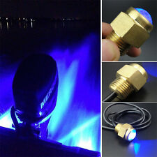 "12V Bright Blue LED Drain Plug Light 1/2"" NPT For Marine Boat Underwater Great"