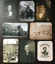 President Abraham Lincoln  Lot Of 8 2016 Special #2 TinType C713NP