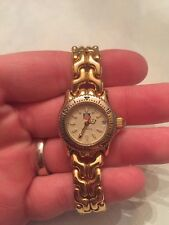 Authentic Ladies Tag Heuer Mini Gold SEL Link Watch