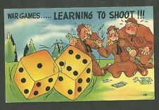 1943 Post WWII Postcard War Games Learning to Shoot 187