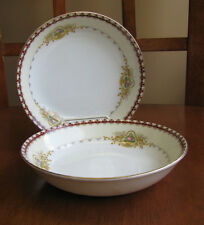 "MEITO china DOVER pattern Sauce Berry Bowl LOT 2 Near Mint  5 3/8"" Maroon"