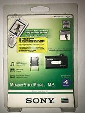 Memory Stick Micro™ (M2™) 4GB (usable capacity 3.66GB) with USB Adaptor New