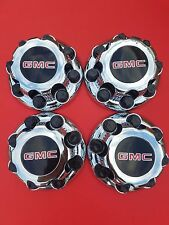 "4 PCS GMC Sierra Yukon VAN 1500 2500 3500 16"" Wheel Center Caps CHROME 8 LUG NEW"