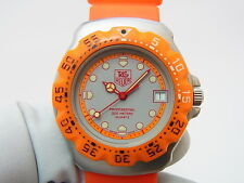 Tag Heuer Orange Formula 1 F1 Men's Mid 37.5mm Swiss Watch 373.513 New Battery