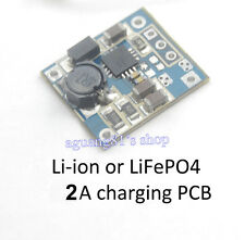 4.5-9V 2A Lithium ion or iron phosphate LiFePO4 cargar charging module PCB 18650