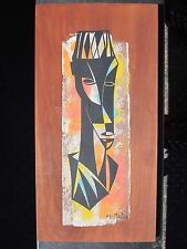 VINTAGE AFRICAN AMERICAN CHICAGO WPA ARTIST WILLIAM McBRIDE JR MODERN PAINTING
