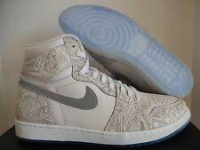 NIKE AIR JORDAN 1 RETRO HIGH OG LASER WHITE-METALLIC SILVER SZ 11 [705289-100]
