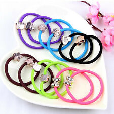 5pcs Girls Elastic Hair Ties Band Rope Ponytail Bracelet Scrunchie Rondom FREE