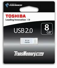 8GB Toshiba USB 2.0 flash drive Memory stick mini White 8Gig - THNU08SIPWHT