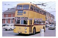 gw0123 - Bournemouth Trolleybus no 299 to Lansdowne in 1967 - photograph