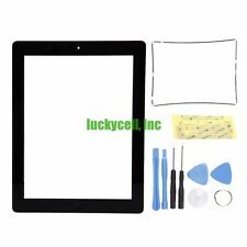 Black Adhesive Digitizer Touch Screen Glass For iPad 2 + Mid Frame Bezel + Tools