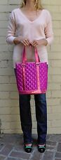 Marc Jacobs Quilted Satin Bucket Bag Tote Fuchsia Pink NEW